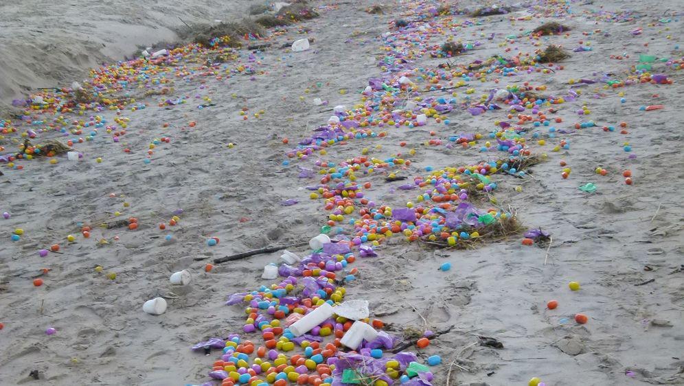 Eier-Schwemme: Buntes Eiland
