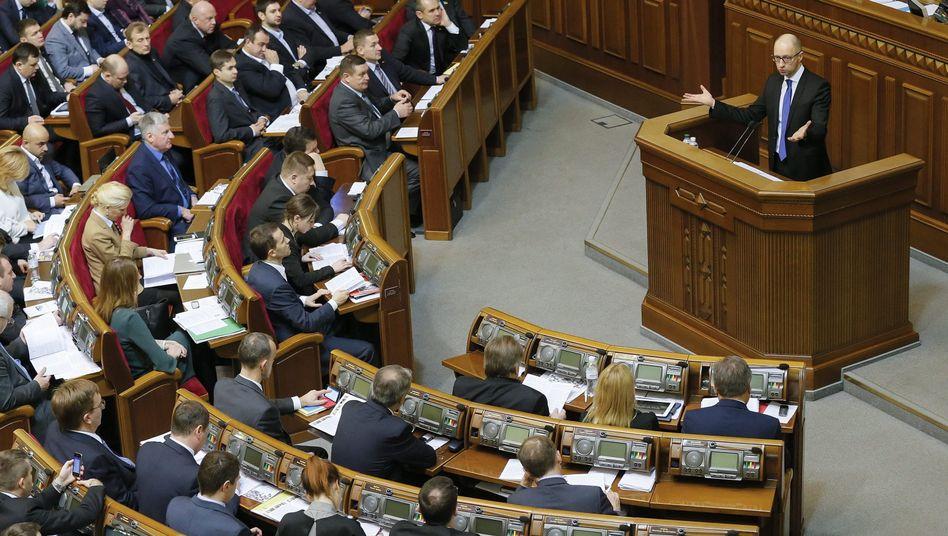 Parlament in Kiew: Die Ukraine strebt nach Westen
