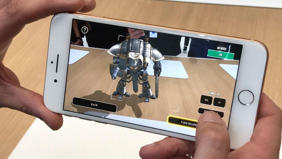 Augmented-Reality-Anwendung auf einem iPhone