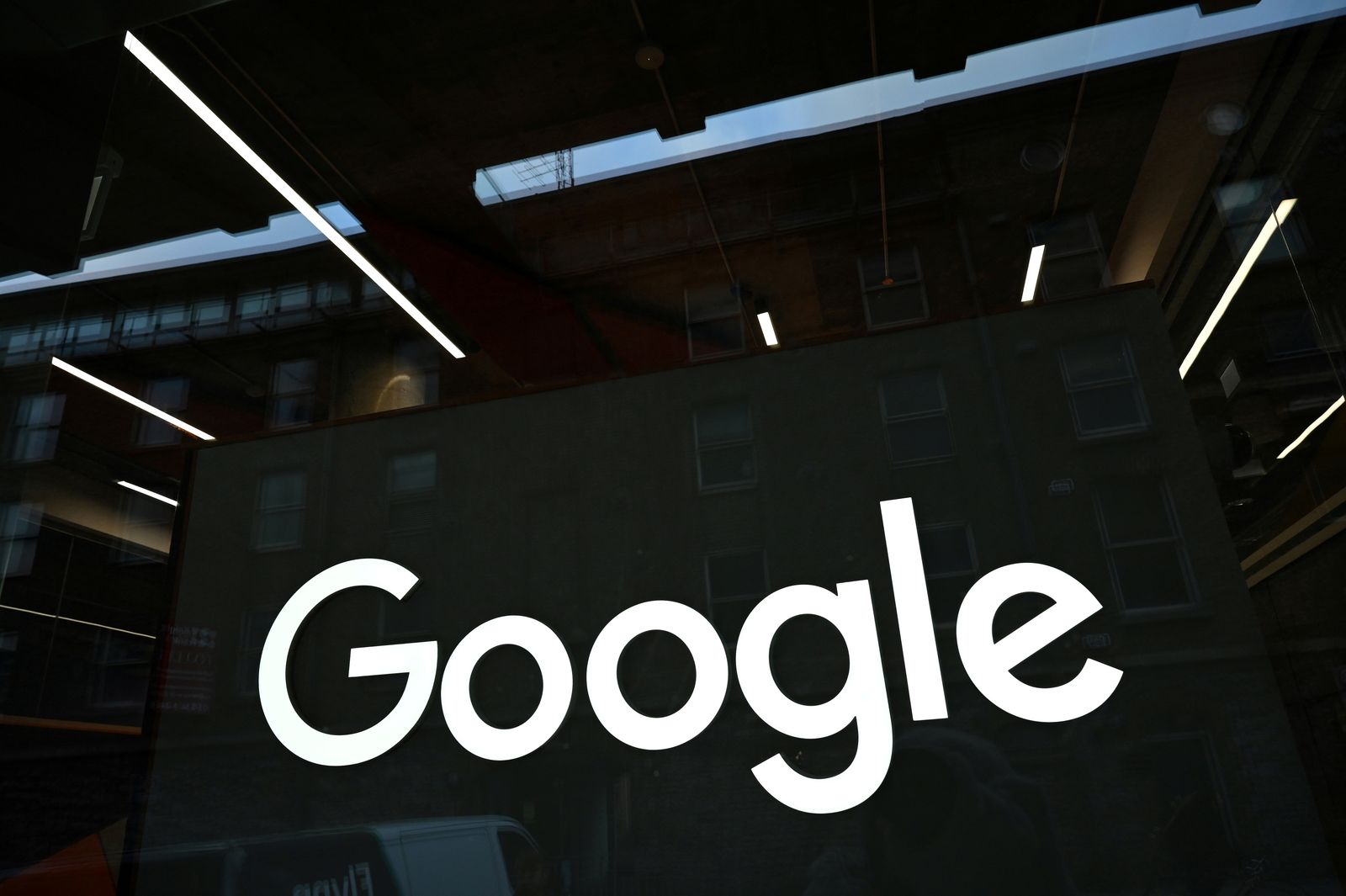 FILE PHOTO: Google logo is seen on on the company's European headquarters in Dublin