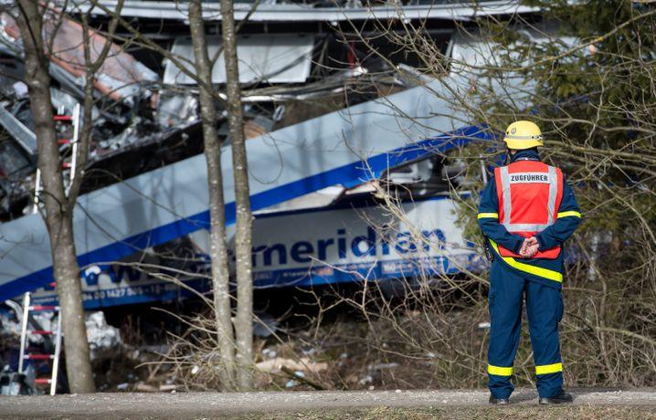 Belastender Einsatz: Ein Zugführer der Rettungskräfte am Unfallort