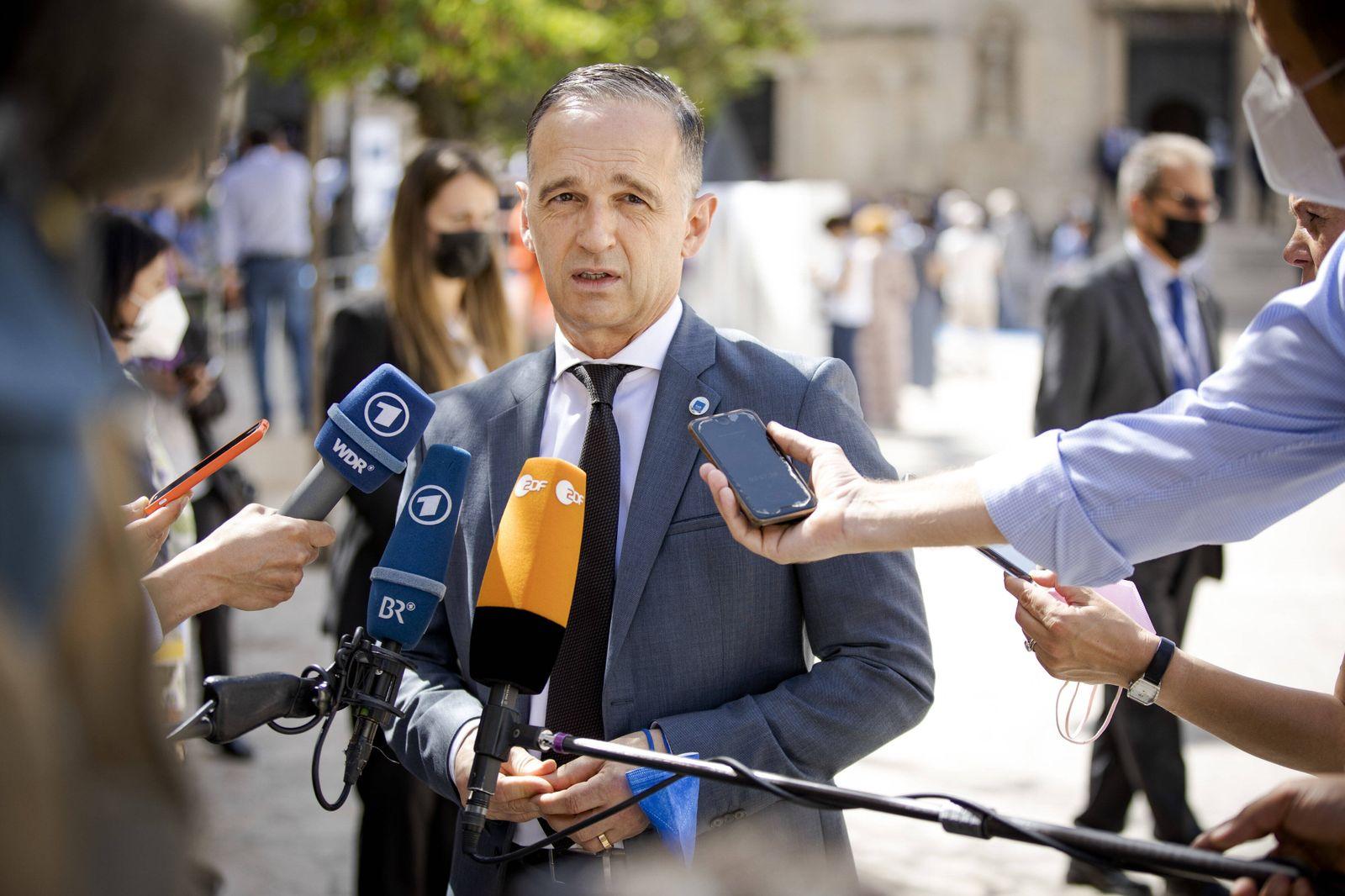 Heiko Maas, Bundesaussenminister, aufgenommen im Rahmen eines Pressestatements vor einer Arbeitssitzung der G20-Aussenm