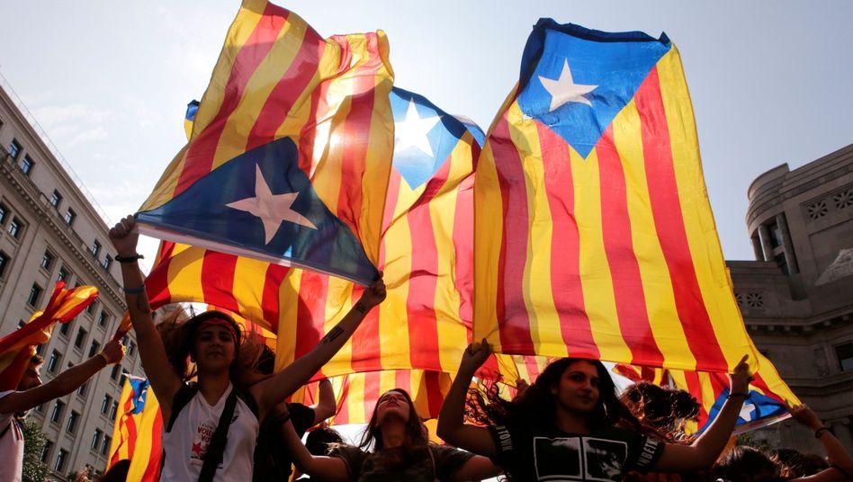 Demonstration für Kataloniens Unabhängigkeit