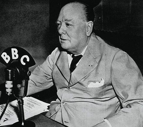 Winston Churchill on the BBC in 1943
