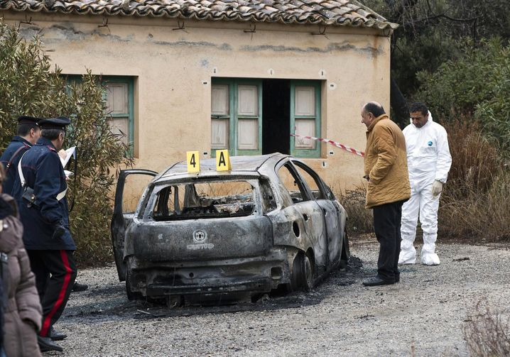 The 'Ndrangheta is one of the largest criminal syndicates in the world and is considered to be especially brutal. In 2014, the mobsters burned this car which contained the bodies of two adults and a young child that they had already murdered.