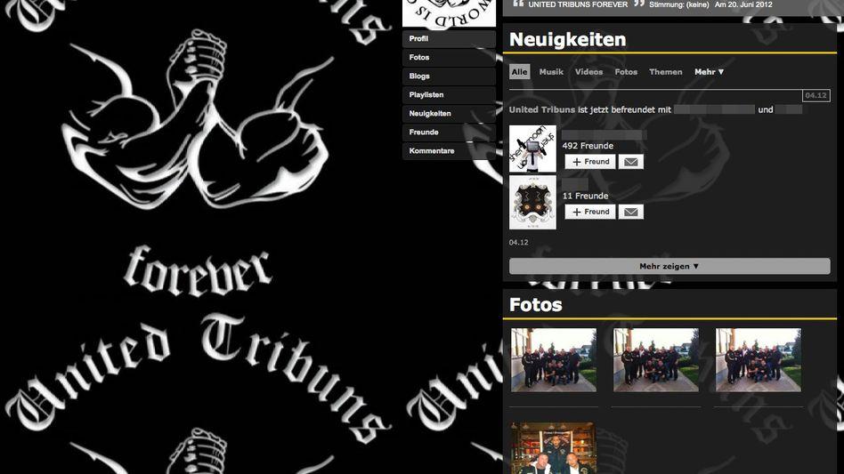 MySpace-Seite der United Tribuns: Prostituierte wie Vieh etikettiert