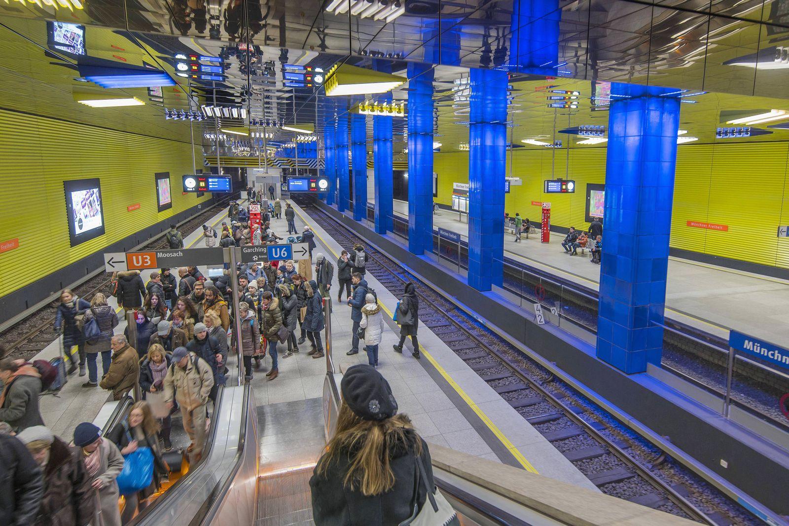 EINMALIGE VERWENDUNG U-Bahn-Station München