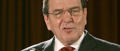 Altkanzler Gerhard Schröder: Deutlicher Hinweis