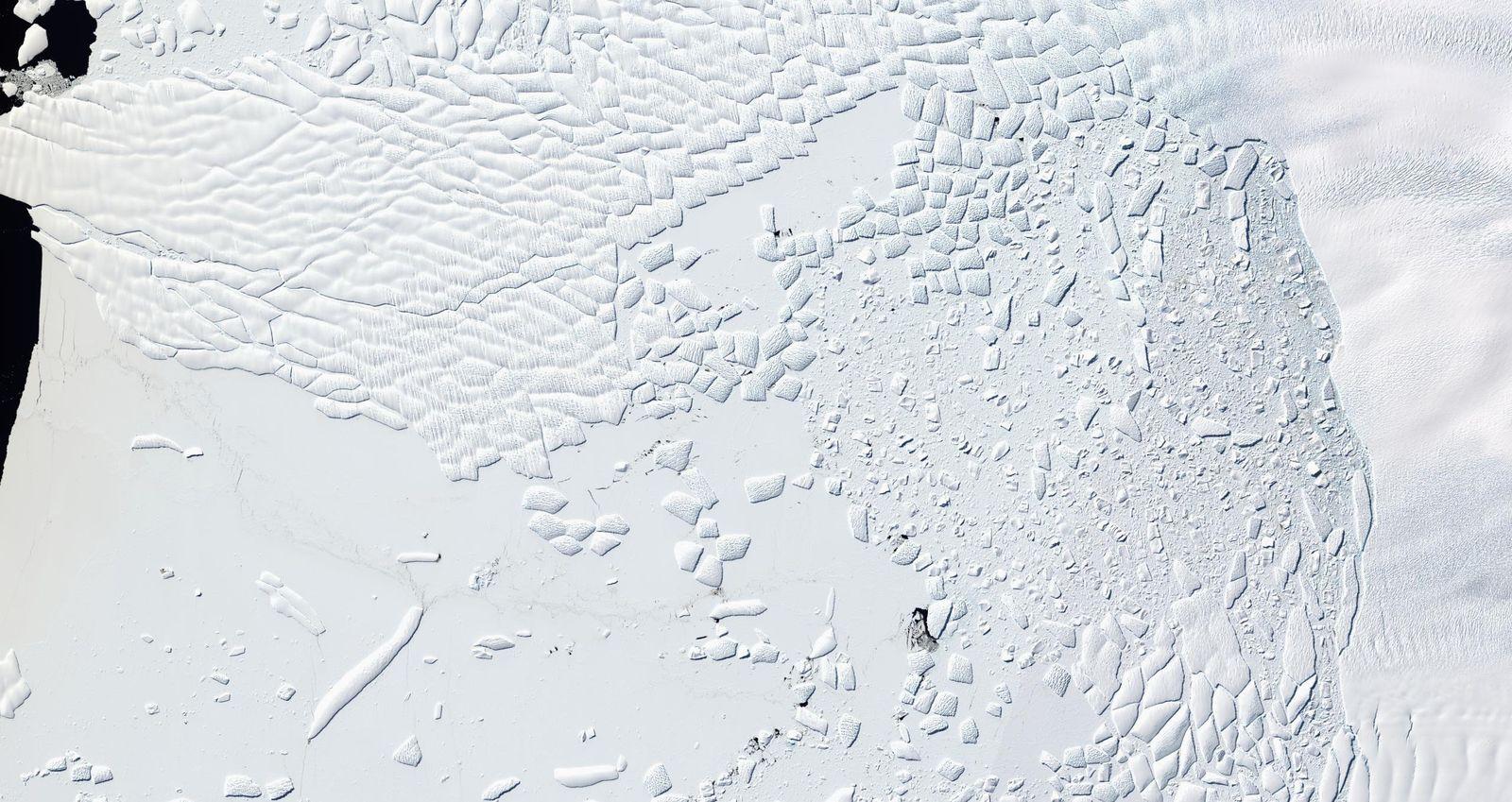 EINMALIGE VERWENDUNG Antarktis/ Eisschmelze
