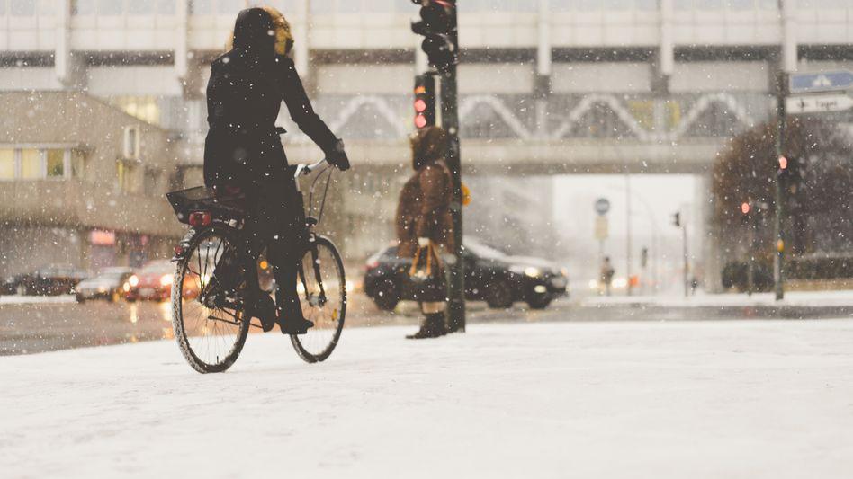 Radfahrerin in Berlin