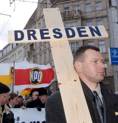 NPD-Demo in Dresden: Immer weniger Touristen