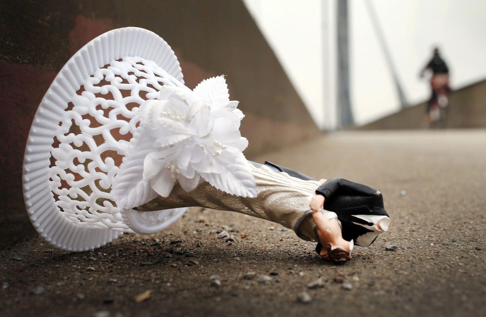 Hochzeitsdekoration Scheidung