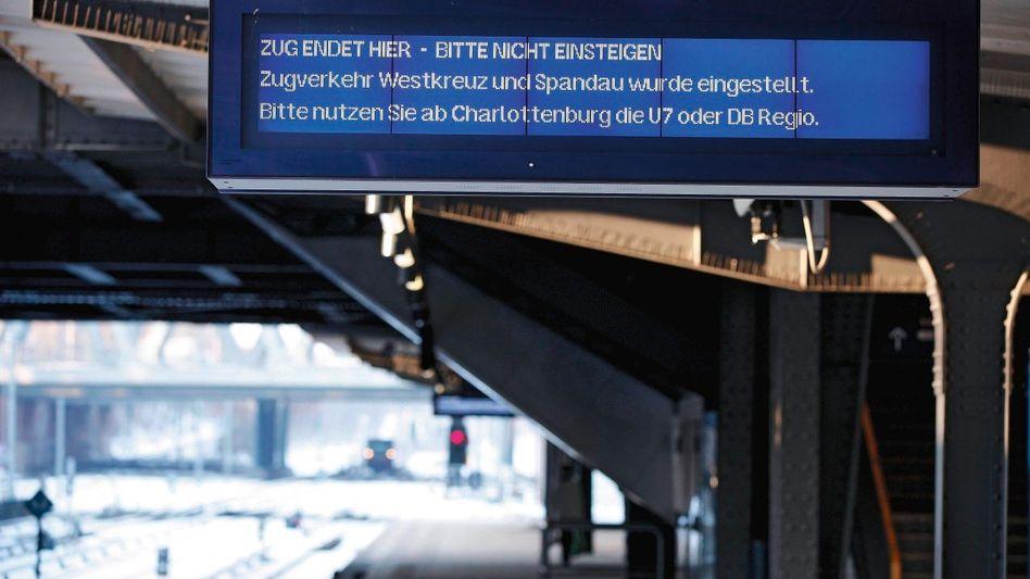 Störungsmitteilung der S-Bahn in Berlin: Außenbezirke über Tage abgeknipst