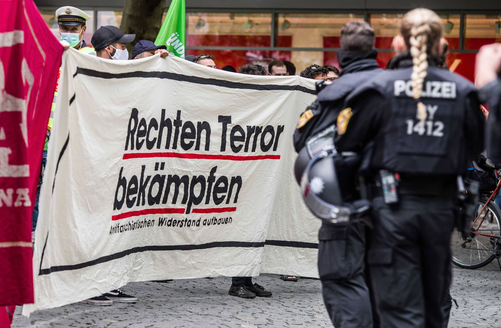 July 18, 2020, Munich, Bavaria, Germany: Fight right wing terror from a group that demands justice for the victims and