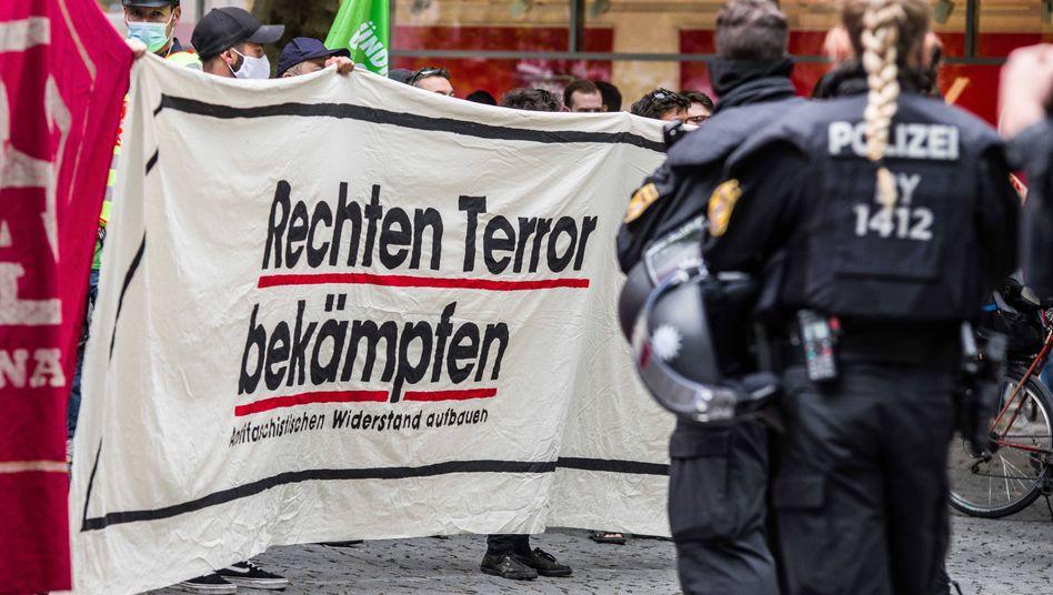 Proteste gegen rechte Demo in München im Juli