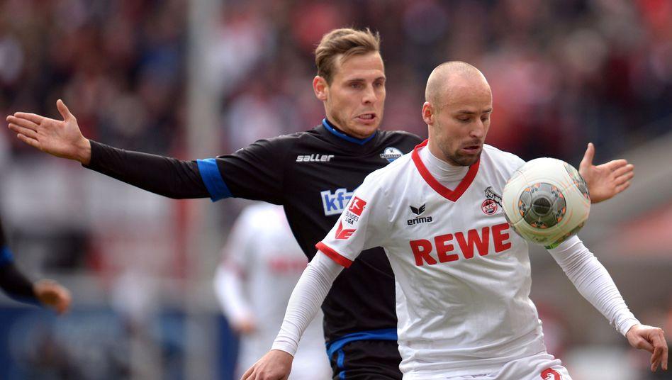 Kölns Brecko (r.), Paderborns Bakalorz: Überraschung am 20. Spieltag