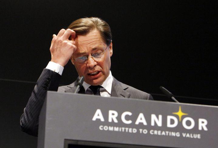 Retter vor dem Aus: Ende 2008 verkündet Arcandor Middelhoffs Abgang