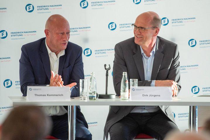 """FDP-Politiker Kemmerich (links) auf einem Unternehmertreffen: """"Für eine neue diplomatische Annäherung mit Russland"""""""