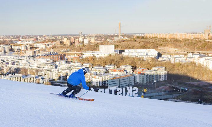 Hammarbybacken mit Blick auf Stockholm