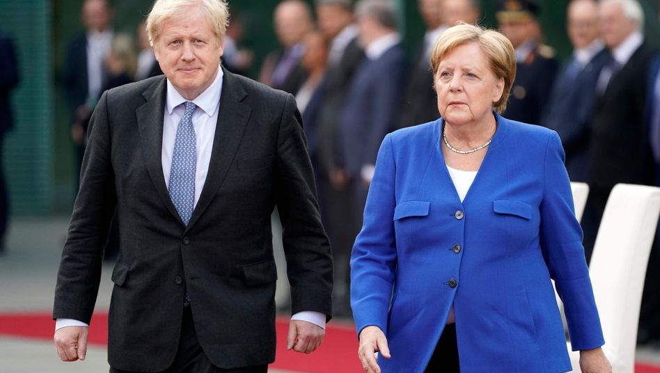 Johnson und Merkel in Berlin