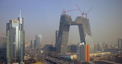 """Rem Koolhaas on the CCTV Tower in Beijing: """"It looks different from every angle."""""""