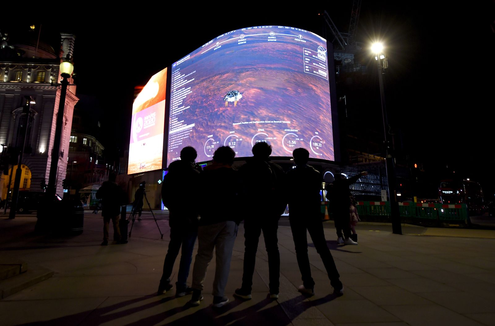 Live From Mars: Landing of NASA Perseverance Livestreamed On Piccadilly Lights