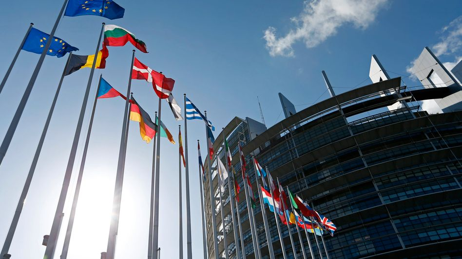 The European Parliament building in Strasbourg, France