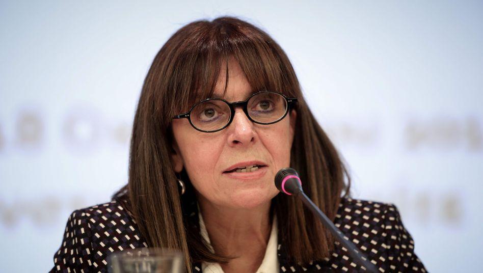 Ekaterini Sakellaropoulou war bislang Präsidentin des obersten griechischen Verwaltungsgerichtshofes