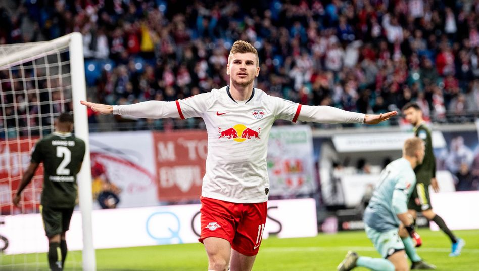 Timo Werner steuerte bei Leipzigs 8:0 gegen Mainz drei Tore und drei Vorlagen bei