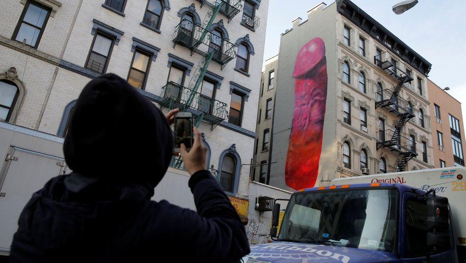 Vorzeitig entfernt: Wandbild in New York