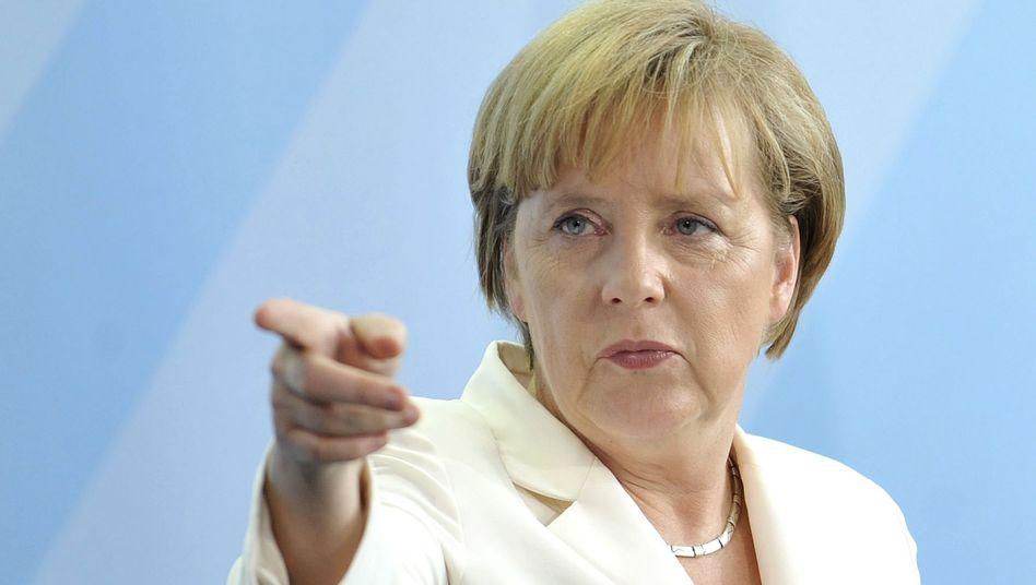 Kanzlerin Merkel: Deutliche Worte in Richtung Sarrazin