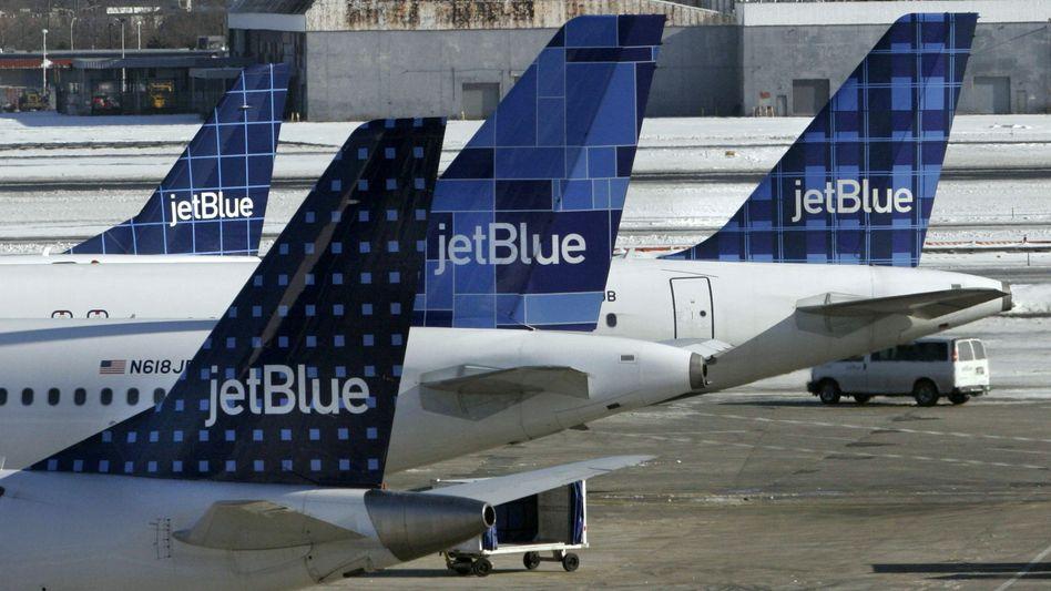 Maschinen der US-Linie JetBlue: Pilotengehälter von rund 120.000 Dollar