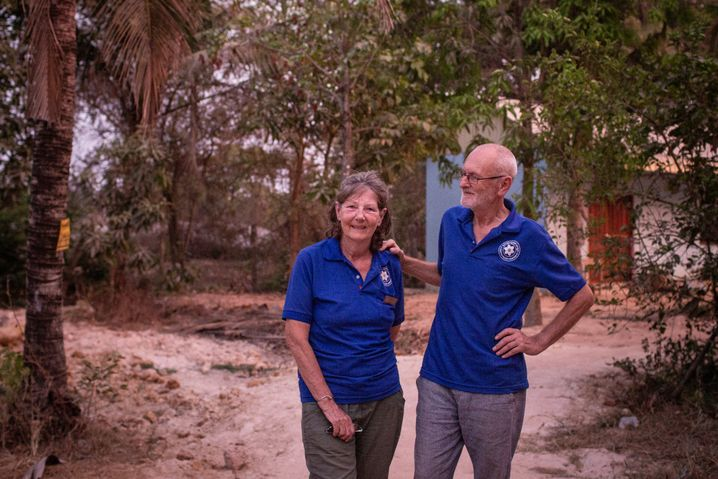 Sean und seine Frau Sylvia McReynolds in Siem Reap
