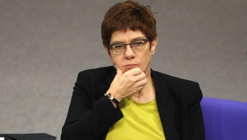 """Annegret Kramp-Karrenbauer will """"auf keinen Fall eine Linksverschiebung der Koalition"""""""