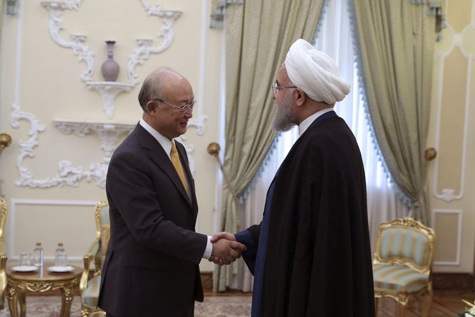 Hassan Ruhani Yukiya Amano Iran IAEA