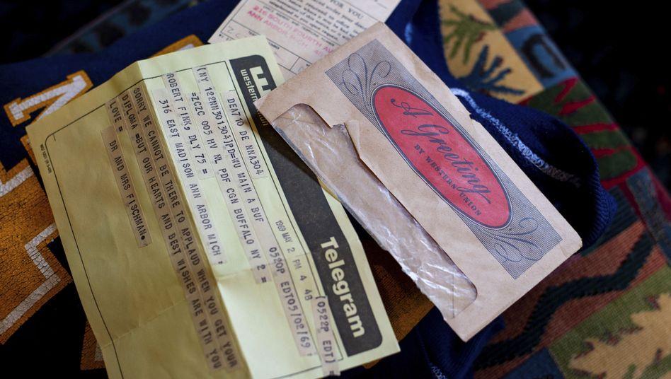 Mehr als 50 Jahre zu spät: Telegramm an Robert Fink
