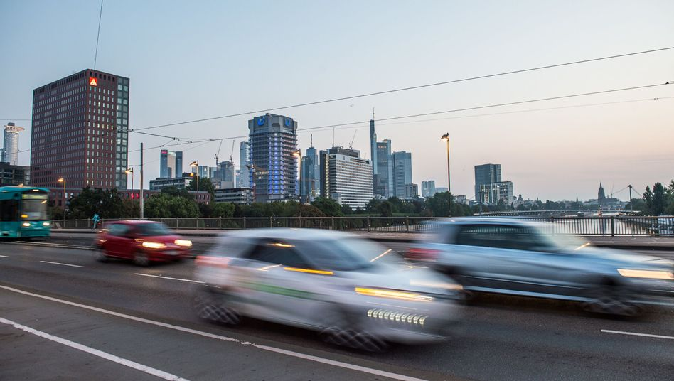 Autoverkehr in Frankfurt am Main