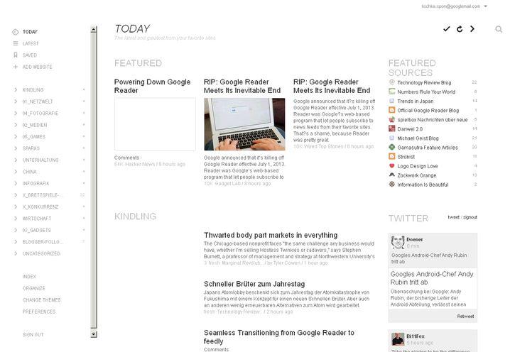 Feedly: Der RSS-Reader in der Magazinansicht