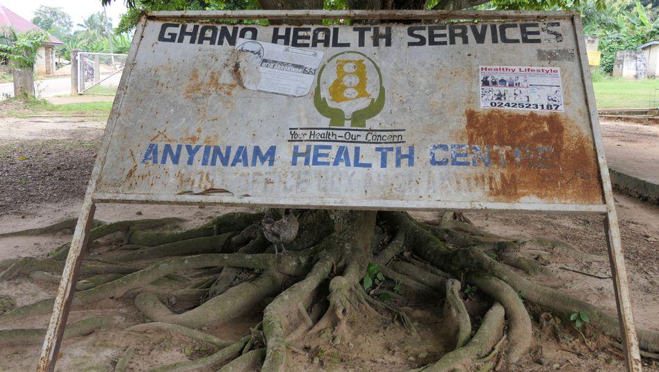 Dem Gesundheitssystem in Ghana fehlt es an finanziellen Mitteln, wie hier dem Gesundheitszentrum Anyinam