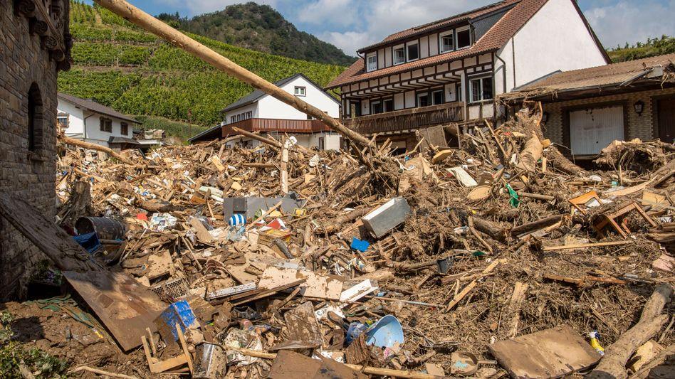 Mayschoss ist eine Ortsgemeinde im Landkreis Ahrweiler in Rheinland-Pfalz: Hier hat das Hochwasser extrem gewütet