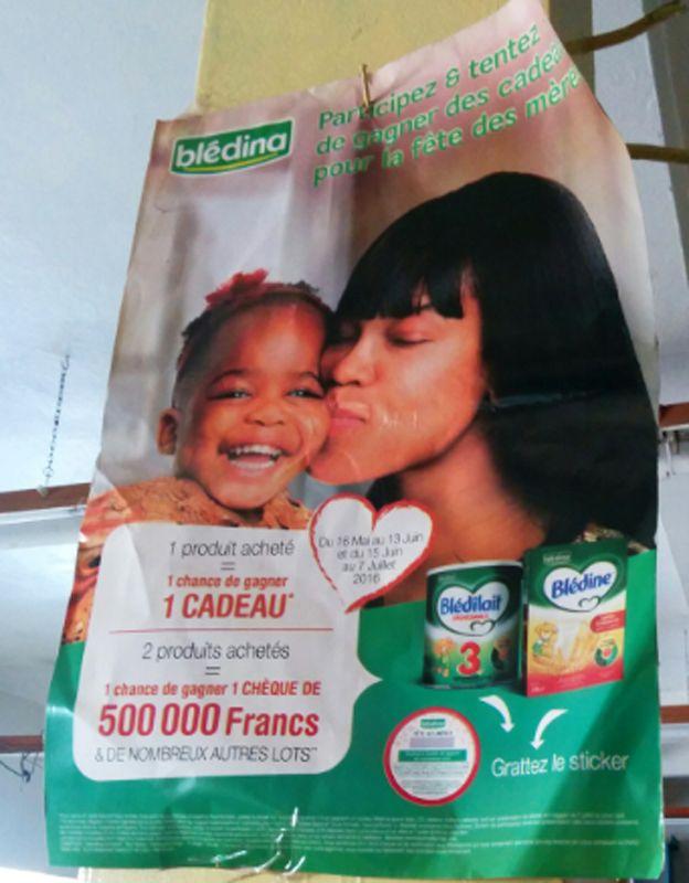 Werbung für Säuglingsnahrung in Kamerun