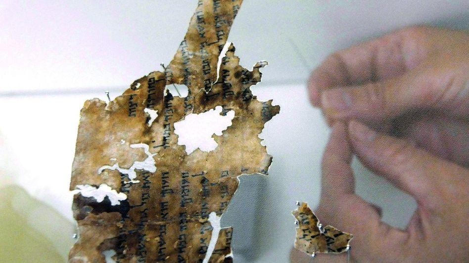 Fragment einer Handschrift aus den Qumran-Höhlen