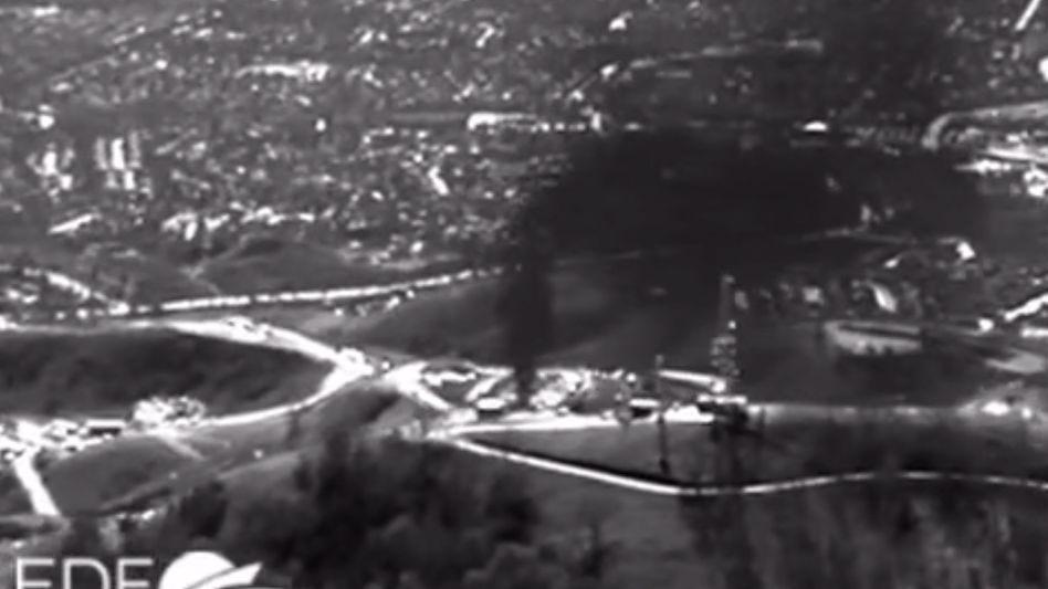 Infrarot-Luftaufnahme: Massives Gasleck im Raum Los Angeles