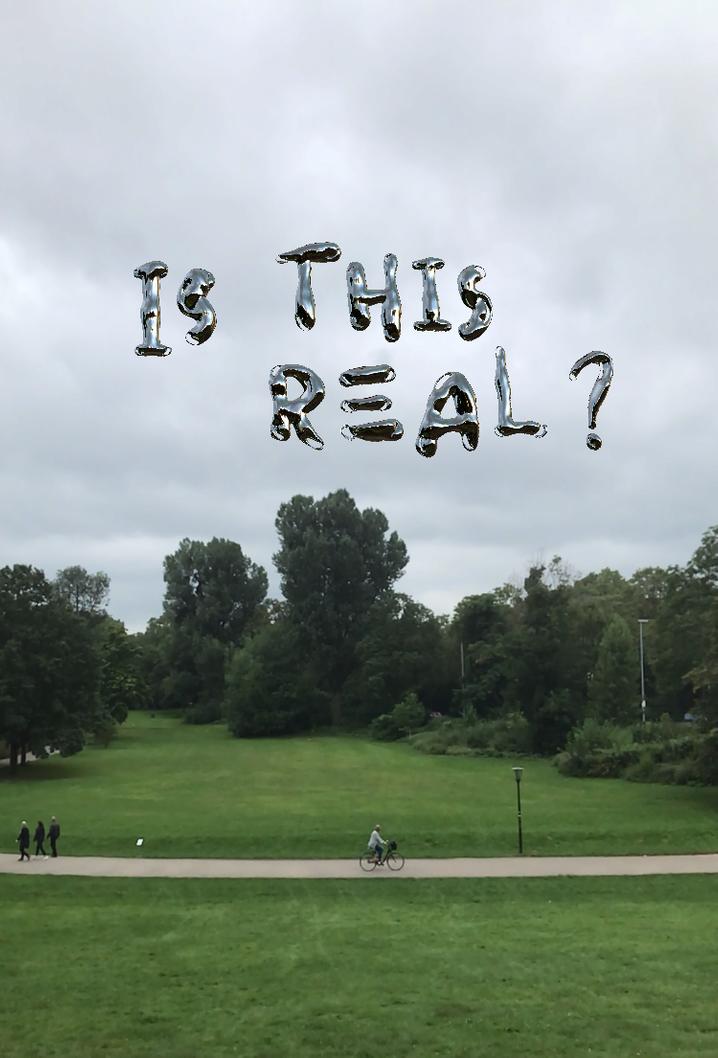 Diese Buchstaben von Andy Picci fließen wie Quecksilber über die Parklandschaft