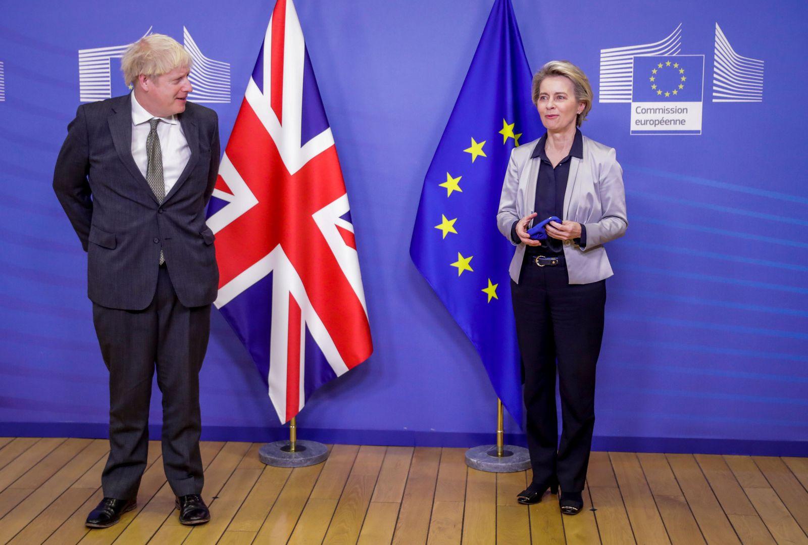 Post Brexit trade deal talks, Brussels, Belgium - 09 Dec 2020