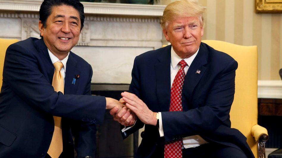 Japans Premierminister Shinzo Abe und US-Präsident Donald Trump