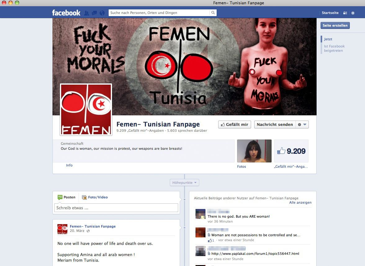 SCREENSHOT/ Femen/ Facebook