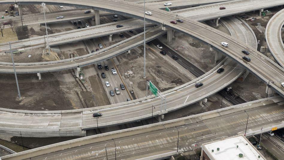Straßennetz in Chicago, Bundesstaat Illinois