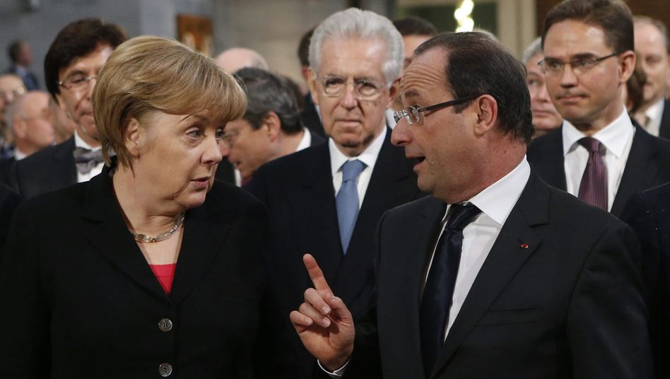 Merkel und Hollande (Dezember 2012): In einigen Fragen der Euro-Rettung im Dissens