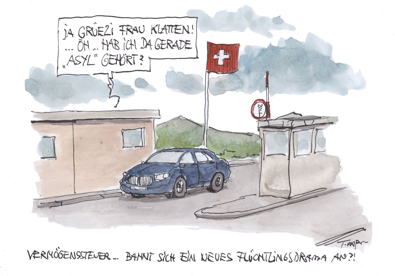 EINMALIGE VERWENDUNG Cartoon 23.12.2019 / Plassmann